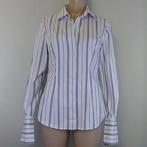 [Moda International] Purple Striped button down S